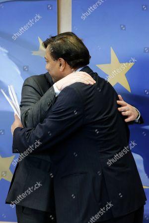 Jean-Claude Juncker and Lakshmi Mittal