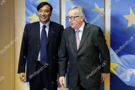 Lakshmi Mittal and Jean-Claude Juncker