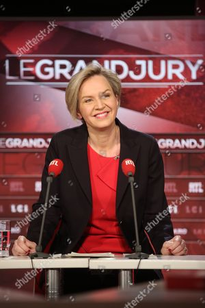 Editorial picture of Virginie Calmels Interviewed on RTL Grand Jury, Paris, France - 11 Mar 2018