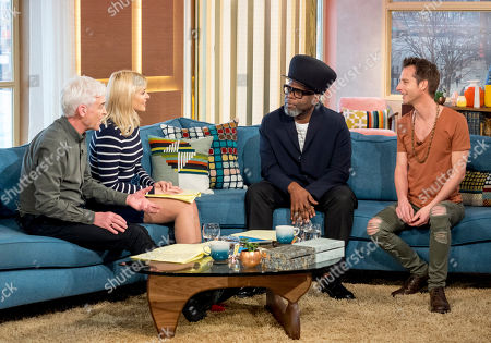 Stock Image of Phillip Schofield and Holly Willoughby with Jazzie B and Chesney Hawkes