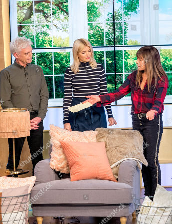 Phillip Schofield and Holly Willoughby with Anna Ryder Richardson