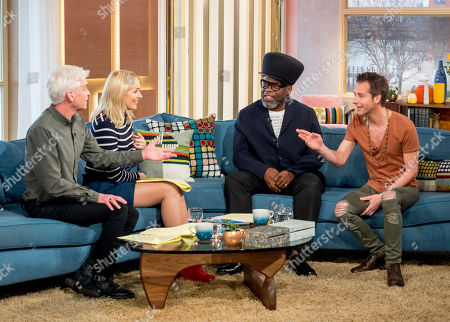 Phillip Schofield and Holly Willoughby with Jazzie B and Chesney Hawkes