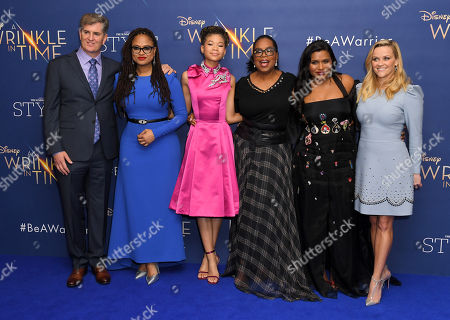 James Whitaker, Ava DuVernay, Storm Reid, Oprah Winfrey, Mindy Kaling and Reese Witherspoon
