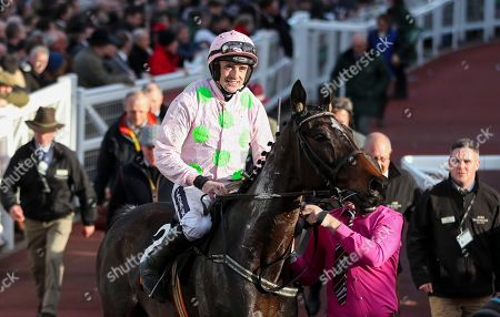 Ruby Walsh on Benie Des Dieuz trained by Willie Mullins after winning the 4.10pm The OLBG Mares' Hurdle Race (Registered As The David Nicholson Mares' Hurdle)