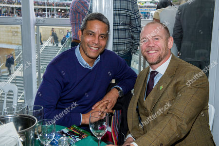 Jeremy Guscott and Mike Tindall sitting in the Green Room