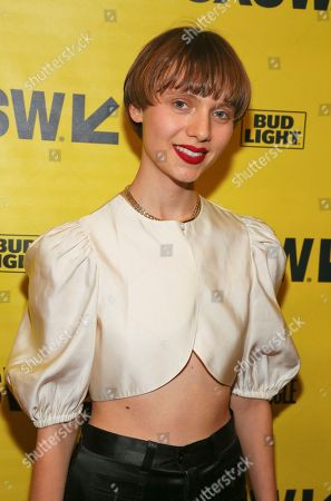 "Sasha Frolova arrives for the world premiere of ""Wild Nights With Emily"" during the South by Southwest Film Festival at the Paramount Theatre, in Austin, Texas"