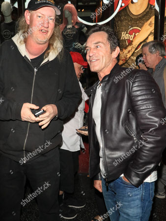 Mike Arnoldi and Jeff Probst outside TCL Chinese Theatre