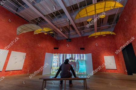 Editorial photo of 'Joan Jonas retrospective' exhibition, Tate Modern, London, UK - 13 Mar 2018