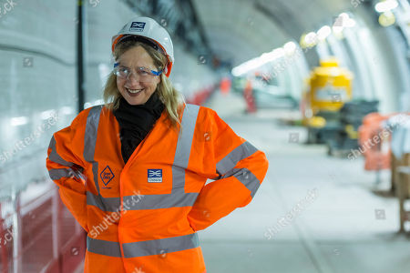 Iwona Blazwick, Director of the Whitechapel Gallery during a visit to the Whitechapel Station site