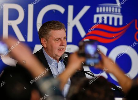 Republican Rick Saccone thanks supporters at the party watching the returns for a special election being held for the Pennsylvania 18th Congressional District vacated by Republican Tim Murphy, in McKeesport, Pa. A razor's edge separated Democrat Conor Lamb and Saccone Tuesday night in their closely watched special election in Pennsylvania, where a surprisingly strong bid by first-time candidate Lamb was testing Donald Trump's sway in a GOP stronghold