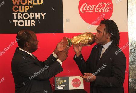 Alassane Ouattara and Christian Karembeu