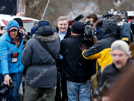 Republican Rick Saccone, in McKeesport, Pa. Saccone is running against Democrat Conor Lamb in a special election being held for the PA 18th Congressional District vacated by Republican Tim Murphy