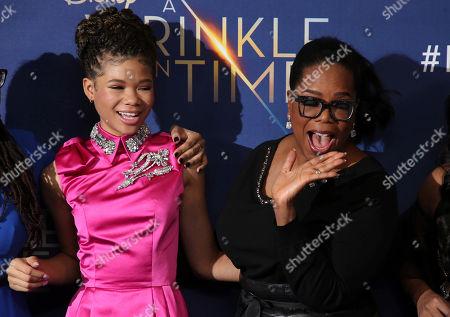 Oprah Winfrey, Storm Reid.