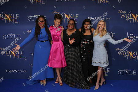 Ava DuVernay, Storm Reid, Oprah Winfrey, Mindy Kaling Reese Witherspoon.