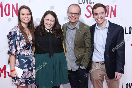 Becky Albertalli and family