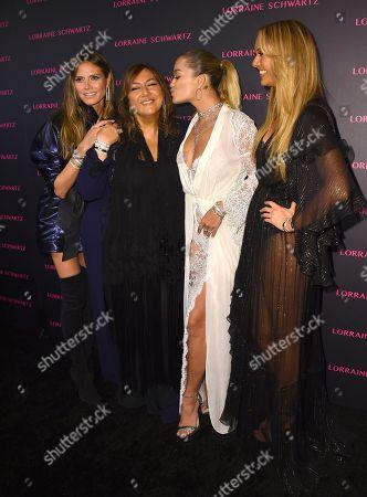 Heidi Klum, Lorraine Schwartz, Rita Ora, Ofira Sandberg.