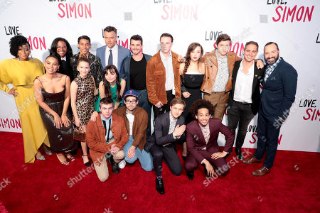 "Cast and crew of ""Love, Simon"""