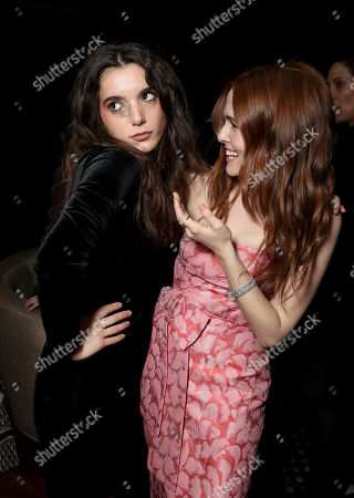 Stock Photo of Dylan Gelula, left, and Zoey Deutch