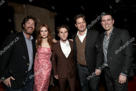 Brandon James, Zoey Deutch, Max Winkler, Tim Heidecker, and Executive VP Film and TV of The Orchard, Paul Davidson