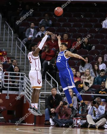 Editorial image of NCAA BKC UNC Asheville vs USC Trojans, Los Angeles, USA - 13 Mar 2018