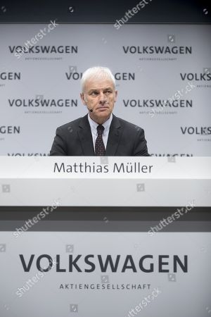 Stock Picture of Matthias Muller, ceo of the German car maker Volkswagen AG, VW