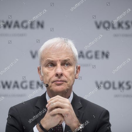 Stock Image of Matthias Muller, ceo of the German car maker Volkswagen AG, VW