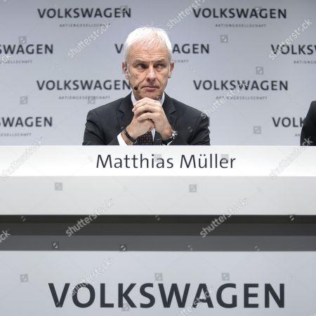 Stock Photo of Matthias Muller, ceo of the German car maker Volkswagen AG, VW