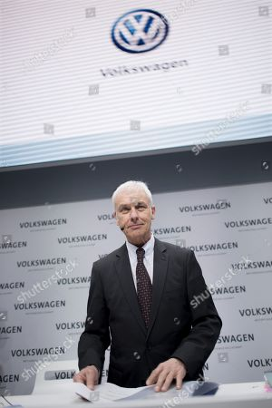Editorial picture of Volkswagen annual press conference, Berlin, Germany - 13 Mar 2018
