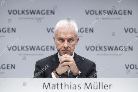 Matthias Muller, ceo of the German car maker Volkswagen AG, VW