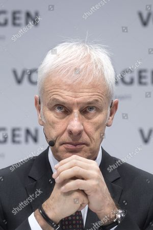 Editorial image of Volkswagen annual press conference, Berlin, Germany - 13 Mar 2018