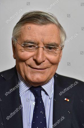 Editorial picture of Jean-Louis Beffa, president d'honneur de Saint-Gobain, France - 13 Mar 2018