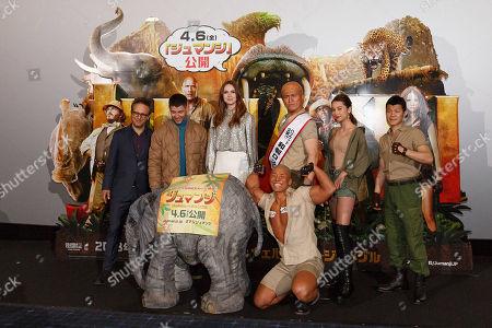 Editorial image of 'Jumanji, Welcome to the Jungle' screening, Tokyo, Japan - 14 Mar 2018