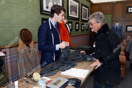 Eddie Jordan talks to Joshua Dobrik in the Huntsman shop