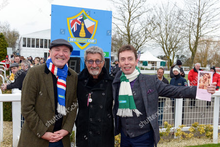 Eddie Jordan with Phil Tufnell and Ken Doherty next to the Parade Ring