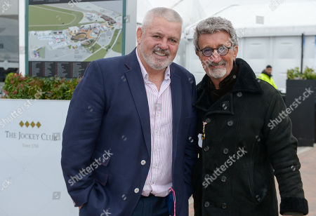 Warren Gatland and Eddie Jordan arrive at the racecourse