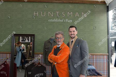 Eddie Jordan in the Huntsman shop