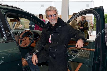 Eddie Jordan inspects the Bentley Bentayga Mulliner in the Bentley shop