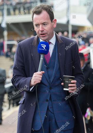 TV Racing presenter Nick Luck at the Cheltenham Festival.