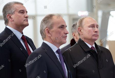 Vladimir Putin and Sergei Aksyonov