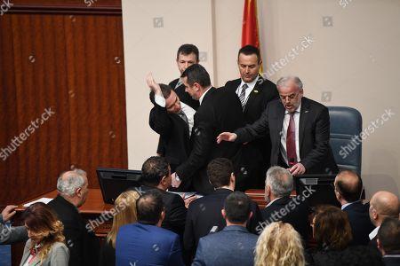 Talat Xhaferi and Nikola Gruevski