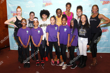 Natalie Reid, Christian Navarro, We McDonald, Caleb McLaughlin, Damaris Lewis, Danelle Morgan with Garden of Dreams Talent Show Participants