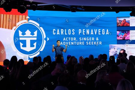 Actor Carlos PenaVega reveals multibillion-dollar plans for the world's largest cruise line ? including the new Perfect Day Island Collection at Seaport District NYC on in New York