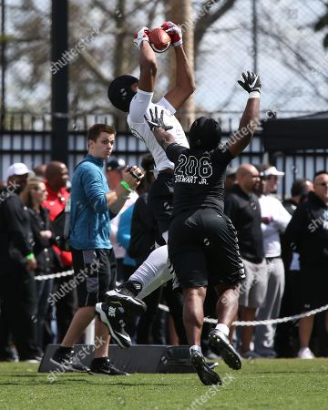 TE Mater Dei Michael Martinez #429 grabs a pass at the Nike Football The Opening Regional Los Angeles on at Chargers Practice Facility. Photo by Jevone Moore