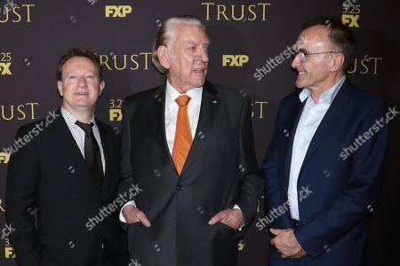 Simon Beaufoy, Donald Sutherland and Danny Boyle