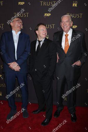 Danny Boyle, Simon Beaufoy and Donald Sutherland