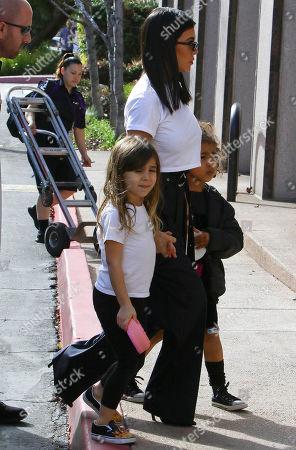 Kourtney Kardashian, Penelope Disick and North West