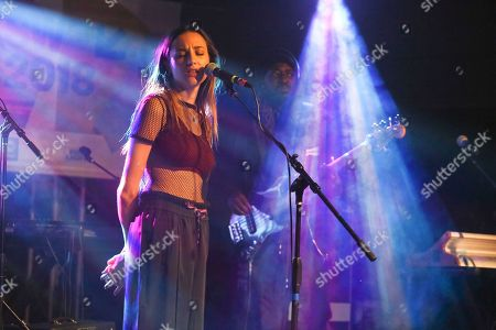 Stock Image of Kaity Dunstan. Cloves performs during the South by Southwest Music Festival at the Empire Garage, in Austin, Texas