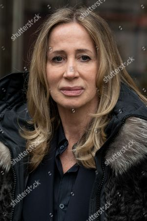 Stock Picture of Michelle Young, the former wife of the late property tycoon Scot Young takes part in photo call at offices of her Bankruptcy Trustee, FRP Advisory, in relation to her divorce settlement.