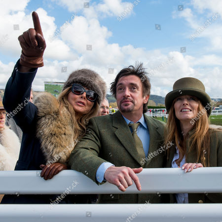 Carol Vorderman with Richard and Mindy Hammond on the racecourse as part of a tour with Michael Dickinson