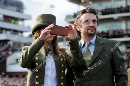 Richard Hammond and Mindy Hammond on the racecourse as part of a tour guided by Michael Dickinson